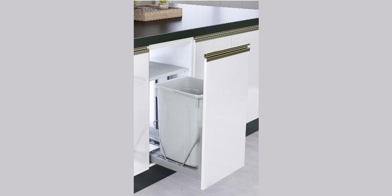 سطل زباله توکار کابینتی درب بازشو