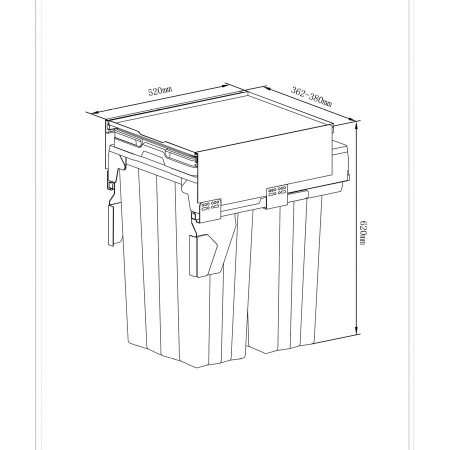 سطل آشغال ریلی مدل 9020 ملونی