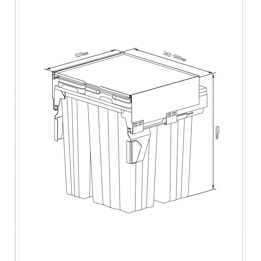 سطل آشغال ریلی 9022 ملونی 4 قلو