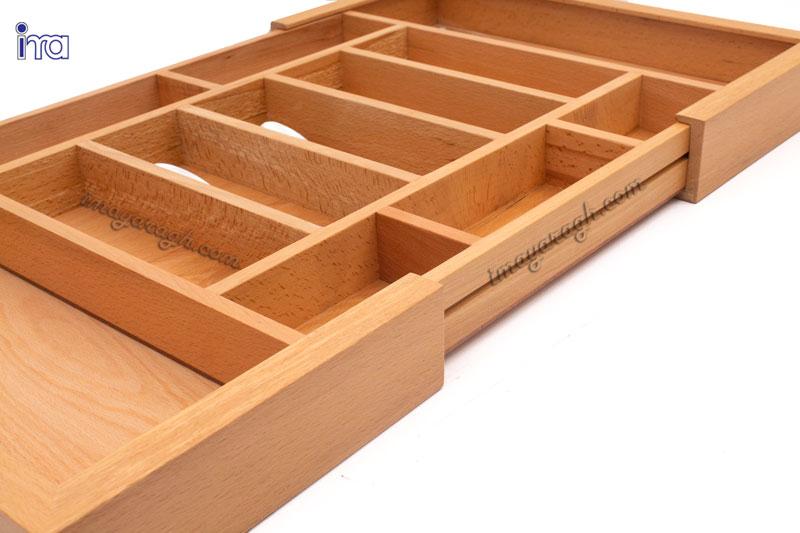 زهوار چوبی قابل ریگلاژ جا قاشقی چوبی راش