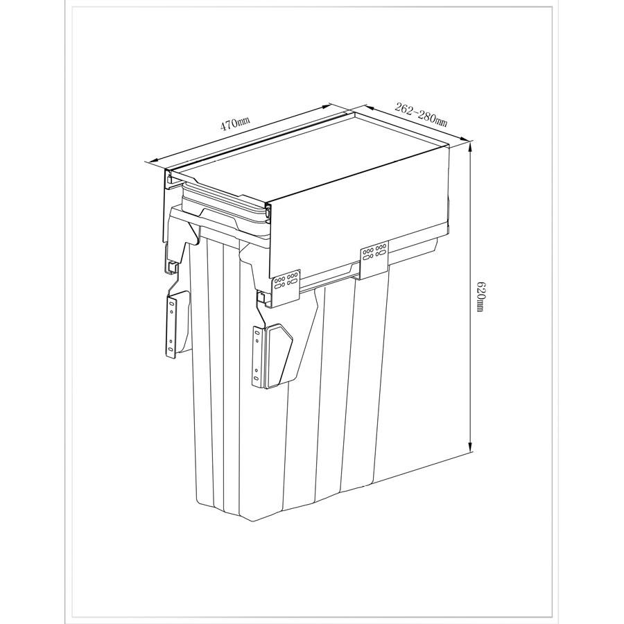 نثب سطل زباله یونیت 30 دو مخزنه 9018 ملونی