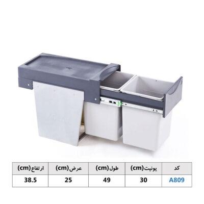 سطل زباله کابینتی هایلو آدلان | ایما یراق