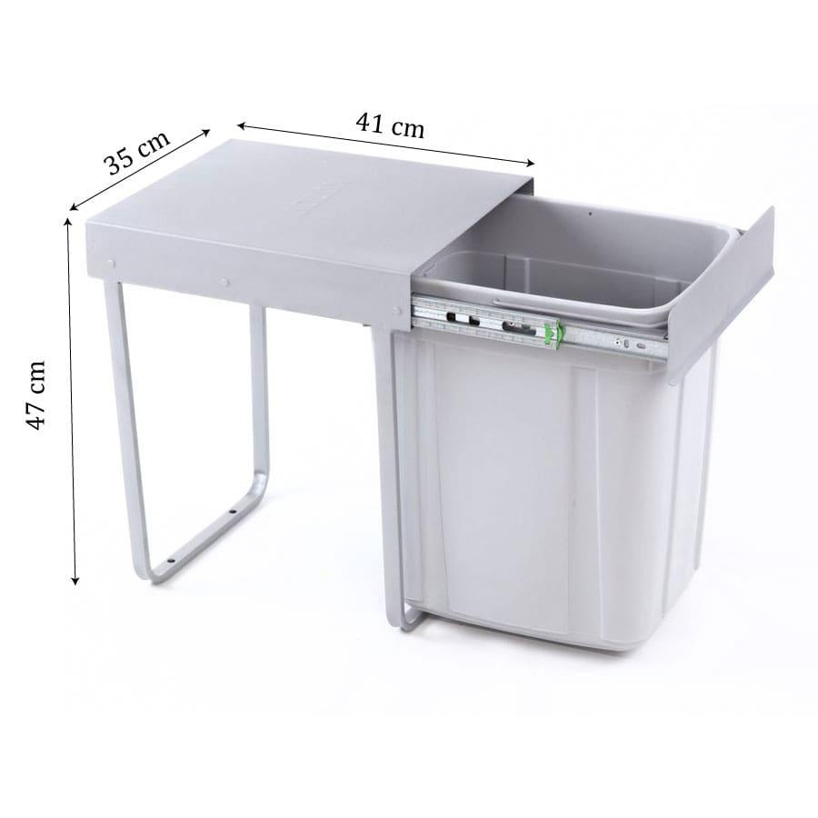 ابعاد سطل زباله 40 لیتری تک مخزنه آدلان | ایما یراق