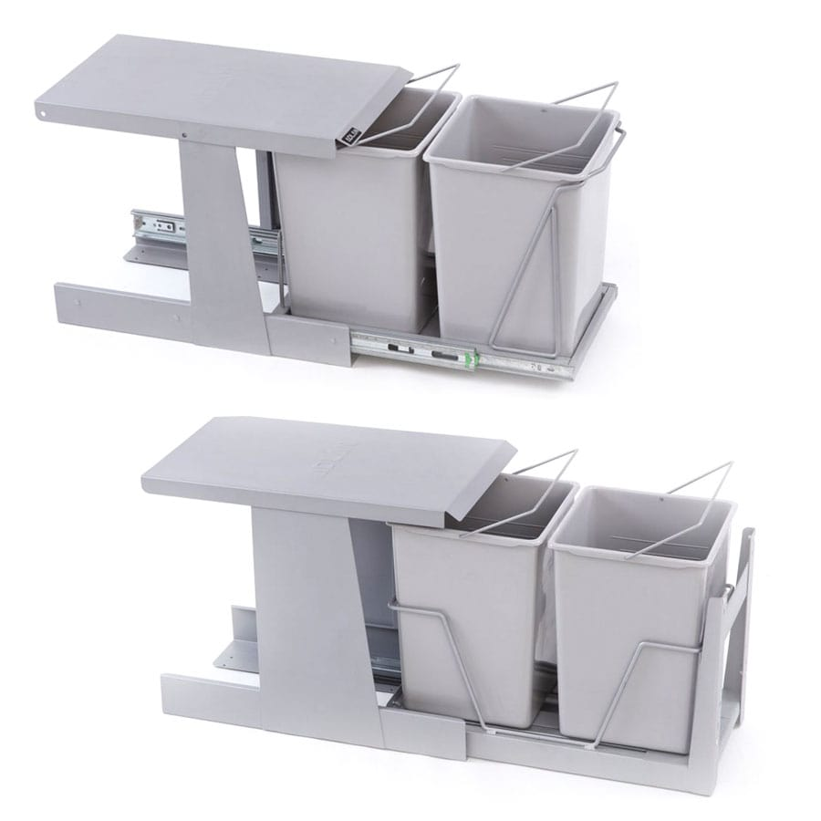 سطل زباله متصل به درب کوچک دو مخزنه آدلان | ایما یراق