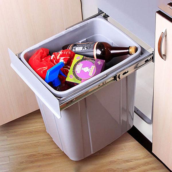 سطل زباله توکار تک مخزنه 40 لیتری درجه 1 آلبا مدل 702