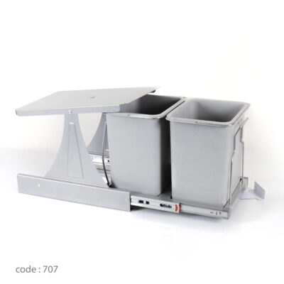 سطل زباله کابینتی قابل اتصال به درب آلبا درجه 1 مدل 707-ایما یراق