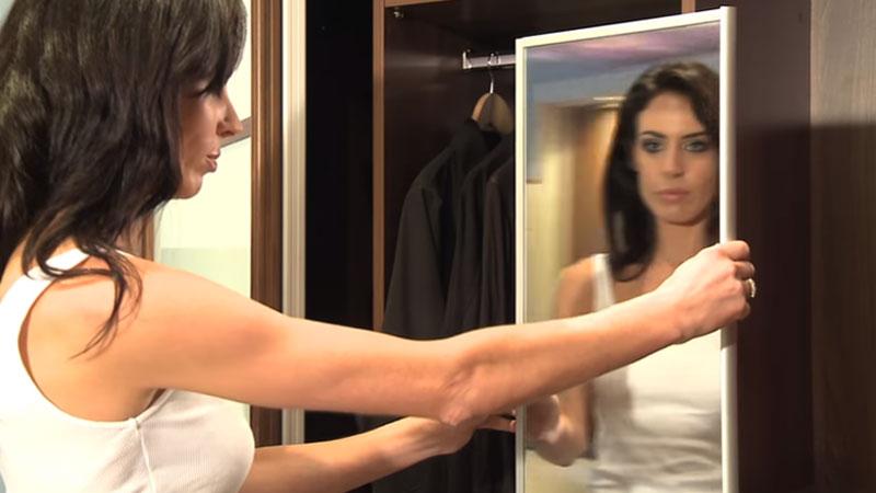 آینه ریلی با چرخش 90 درجه مخصوص کمد دیواری