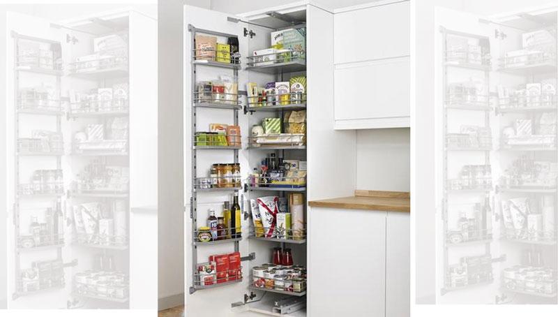 استفاده از سوپریخچالی برای ذخیره مواد غذایی در آشپزخانه