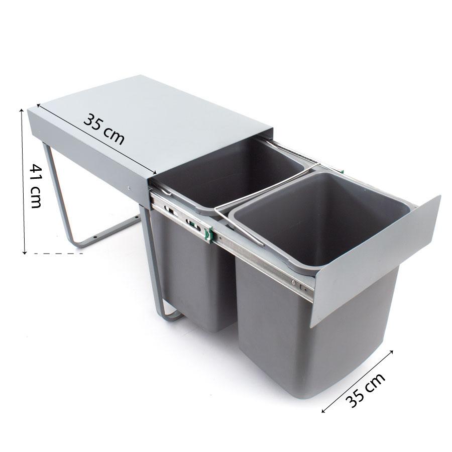 اندازه گیری سطل آشغال کابینتی