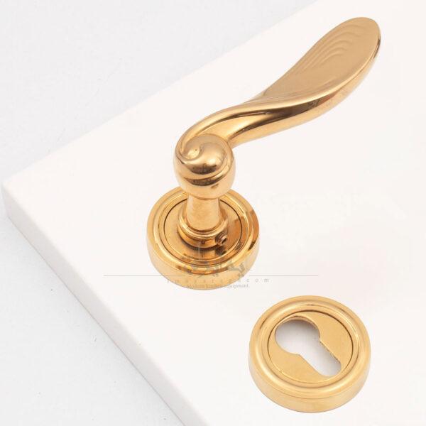 دستگیره در چوبی دیاکو مدل Denver طلایی-ایما یراق
