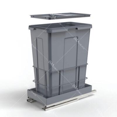 سطل زباله مناسب آشپزخانه ریل از کف مدل 9024 ملونی-ایما یراق