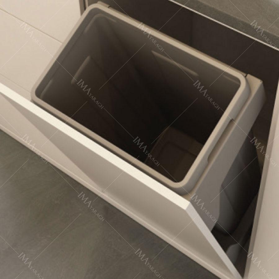 سطل زباله داشبوری (تاشو)کابینت آرام بند مدل 9030 ملونی