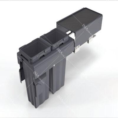 سطل 2 قلو ریلی آرام بند 32 لیتر مدل 9018 ملونی-ایما یراق
